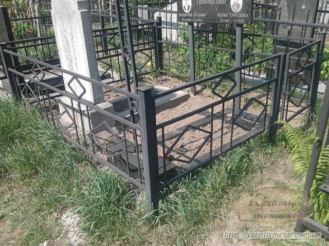 Ограждение для могилы чертеж гроба с размерами
